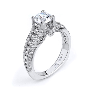 18KTW ENEGAGEMENT RING 1.00CT