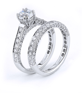 18KTW ENGAGEMENT SET, DIAMOND  1.47CT