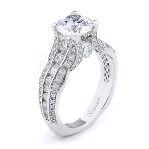 18KTW ENEGAGEMENT RING 1.14CT