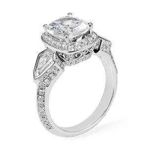 18KTW ENGAGEMENT RING, DIAMOND 1.54CT