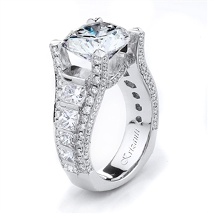 18KTW ENGAGEMENT RING, DIAMOND 4.50CT