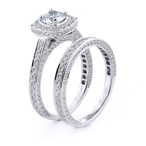 18KT.W ENGAGEMENT SET DIAM-1.38CT