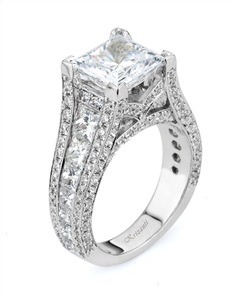 18KW ENGAGEMENT RING 3.01CT