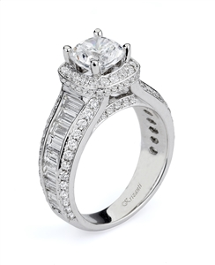 KRIZANTI 18K WHITE ENGAGEMENT RING 2.21ct