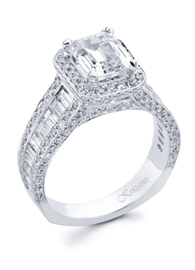 KRIZANTI 18K WHITE ENGAGEMENT RING 2.06ct