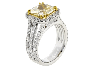 18KT 2 TONE ENGAGEMENT RING 1.45CT