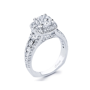 18KTW ENGAGEMENT RING, DIAMOND 1.38CT