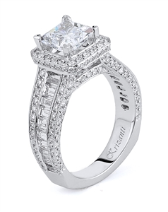 KRIZANTI 18K WHITE ENGAGEMENT RING 2.24ct