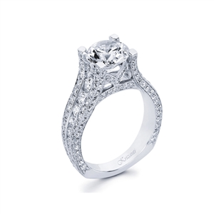 18KW ENGAGEMENT RING 2.05CT