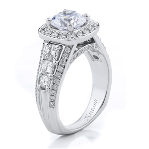 18KTW ENGAGEMENT RING, DIAMOND 1.57CT