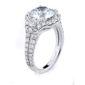 18KT WHITE ENGAGEMENT RING DIAMOND 1.39CT