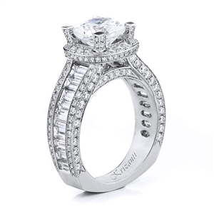 18KTW ENGAGEMENT RING 3.05CT