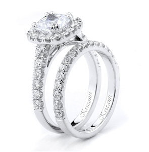 18KTW ENGAGEMENT SET, DIAMOND 1.17CT