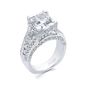 18KTW ENGAGEMENT RING, DIAMOND 2.47CT
