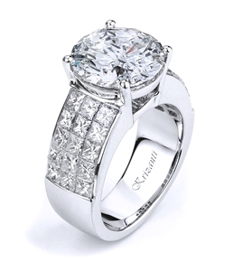 KRIZANTI 18K WHITE ENGAGEMENT RING 2.92ct