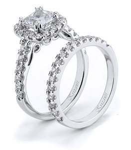 18KTW ENGAGEMENT SET 0.88CT