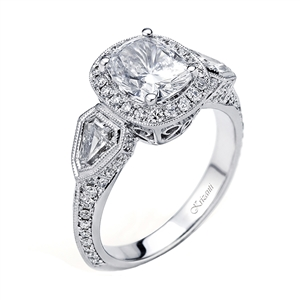 18KTW ENGAGEMENT RING, DIAMOND 1.37CT