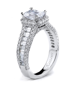 KRIZANTI 18K WHITE ENGAGEMENT RING 1.57ct
