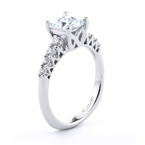 18KT.W ENGAGEMENT RING 0.40CT
