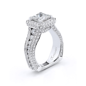 18KTW ENGAGEMET RING 2.20CT