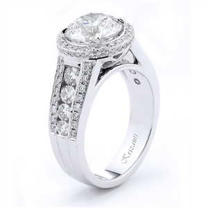 18KTW ENGAGEMENT RING, DIAMOND1.28CT