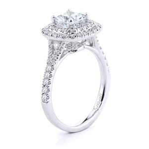 18KTW ENGAGEMENT RING, DIAMOND 0.65CT