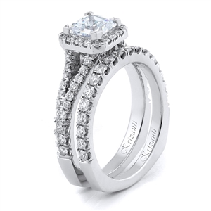 18KTW ENGAGEMENT SET 1.05CT