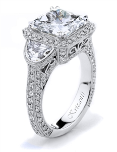 18KW ENGAGEMENT RING, DIAMOND 2.24CT