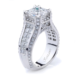 18KTW INVISIBLE SET, ENGAGEMENT RING 2.41CT