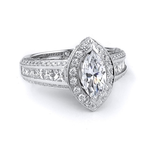 18KTW ENGAGEMENT RING 1.69CT