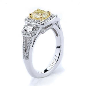 18KW ENGAGEMENT RING, DIAMOND 0.70CT