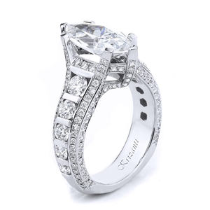 18KTW ENGAGEMENT RING, DIAMOND 2.05CT