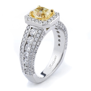 18KTW ENGAGEMENT RING, DIAMOND 1.46CT