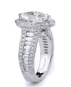KRIZANTI 18K WHITE ENGAGEMENT RING 2.50ct