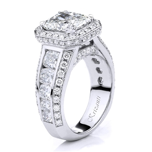 18KTW ENGAGEMENT RING, DIAMOND  3.00CT