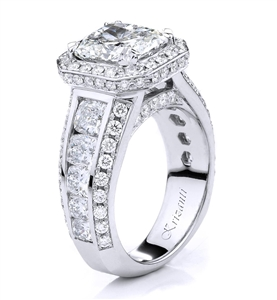 KRIZANTI 18K WHITE ENGAGEMENT RING 3.60ct