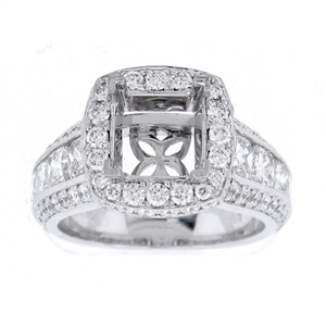 18KTW ENGAGEMENT RING, DIAMOND 3.05CT