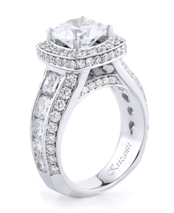 18KW ENGAGEMENT RING, DIAMOND 3.57CT