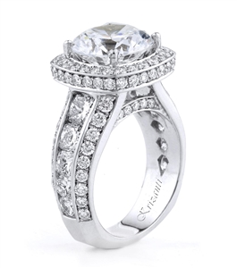 18KTW ENGAGEMENT RING, DIAMOND 3.72CT