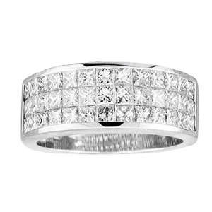 18KTW INVISIBLE SET BAND, DIAMOND 2.28CT