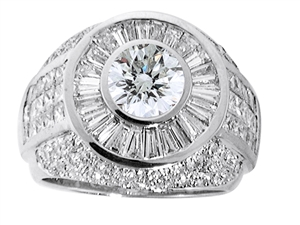 18KTW GENT'S RING DIAMOND 5.15CT