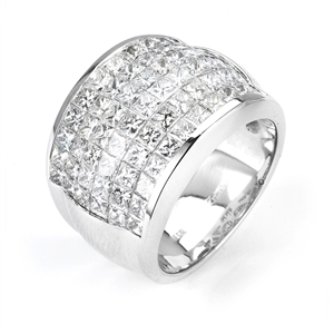 18KTW INVISIBLE SET BAND, DIAMOND  4.89CT