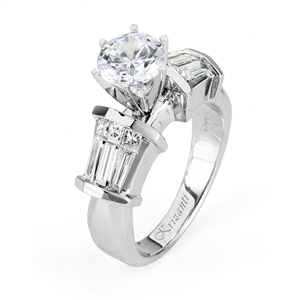 18KTW INVISIBLE SET ENGAGEMENT RING 1.03CT