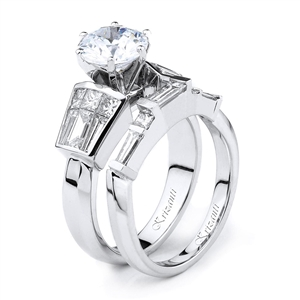 18KTW INVISIBLE SET ENGAGEMENT SET 1.53CT