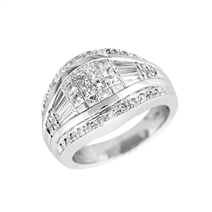 18KTW INVISIBLE SET BAND, DIAMOND 1.81CT