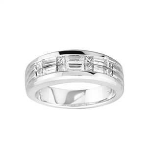 18KTW INVISIBLE SET BAND, DIAMOND 1.269CT
