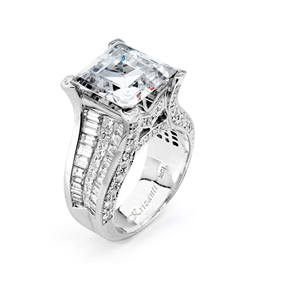 18KW INVISIBLE SET ENGAGEMENT RING 3.20CT