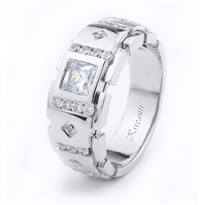 18KTW GENT'S BAND DIAMOND 0.52CT