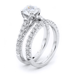 18KTW ENGAGEMENT SET 0.77CT