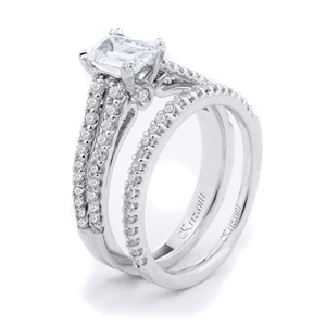 18KTW ENGAGEMENT SET 0.65CT